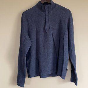 Hugo Boss Gray 1/4 Button Front Sweater - Men's XL